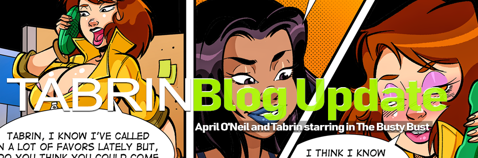 April O'Neil and Tabrin starring in The Busty Bust Blog Post